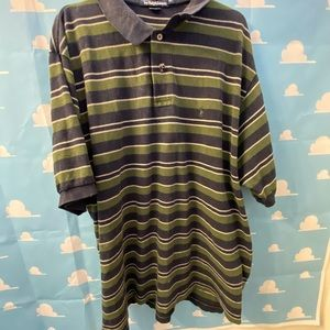Polo by Ralph Lauren Green Striped Vintage XXL